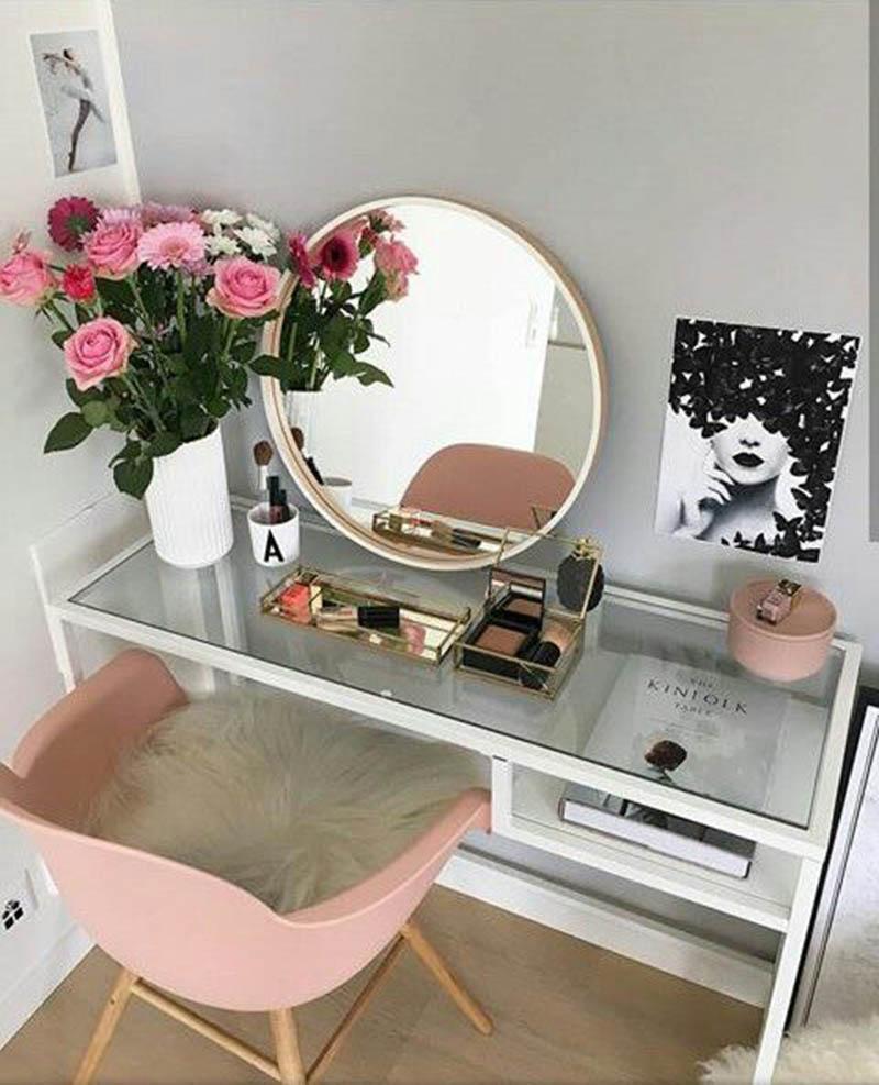 Tendência de decoração espelhos redondos - Idéias e inspirações para você usar o espelho redondo na decoração da sua casa! As MELHORES IDÉIAS. Confira!
