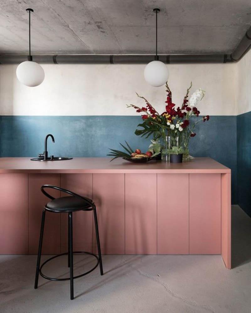 Tendência de cor – Rosa Millennial, agora num tom de rosa queimado, traz uma sensação romântica, terna e confortável aos ambientes