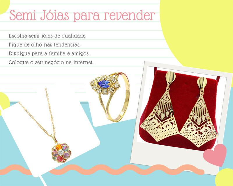 Oportunidade de renda extra com semi joias - mostro para vocês neste post uma empresa com preços competitivos para você começara vender semi jóias e aumentar sua renda.