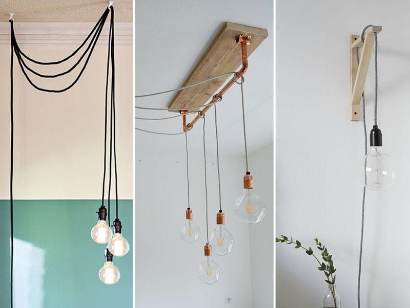 Decoração com luminárias pendentes e lâmpadas aparentes - confira as nossas dicas e inspirações para você usar luminárias na decoração.