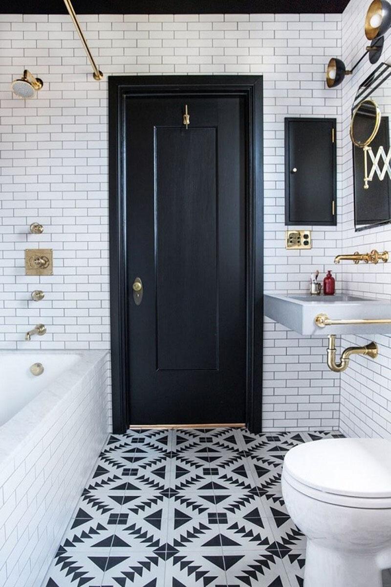 Banheiro preto e branco  - as melhores dicas e inspirações para banheiro com as cores preto e branco! Confiras nossas dicas e arrase na decoração do seu banheiro.