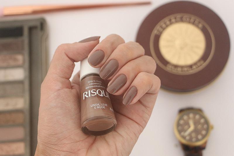 esmalte nude risque linda leve e nude esmalte marrom nail
