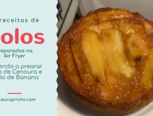 BOLO SIMPLES DE LIQUIDIFICADOR - 2 RECEITAS - aprenda a fazer um delicioso e fácil bolo de cenoura e um bolo de banana invertido! As melhores receitas para air fryer