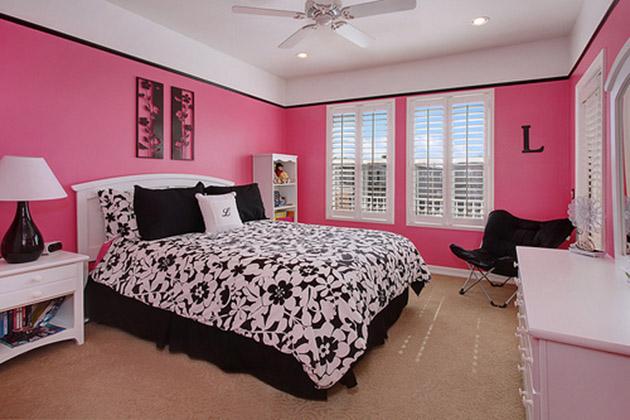 Quarto de adulto cor de rosa melhores id ias eu capricho for Hot pink black and white bedroom ideas