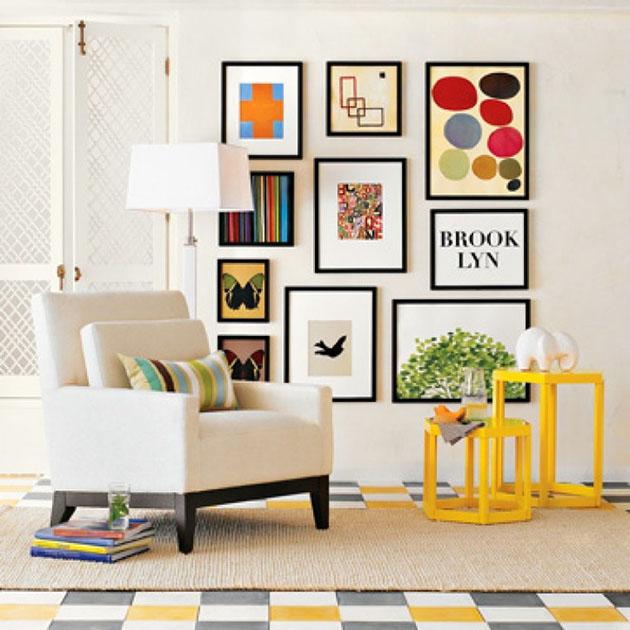 Como montar composi o de quadros eu capricho for Objetos baratos para decorar