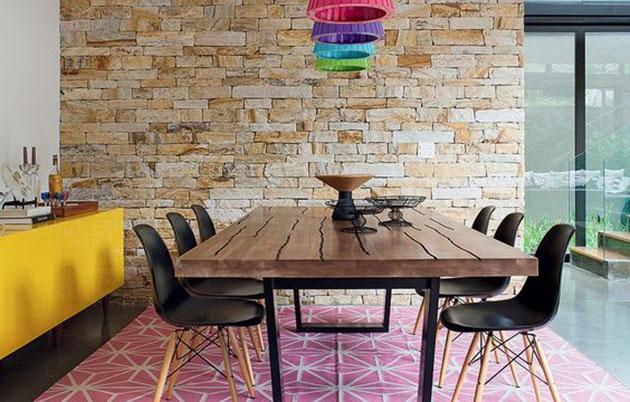 Pode Usar Tapete Na Sala De Jantar ~ sala de jantar for junto com a sala de estar você pode usar 2 tapetes
