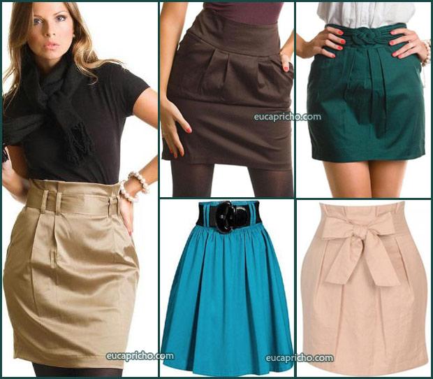 Loucas por Saia de cintura alta modelos e looks para usar