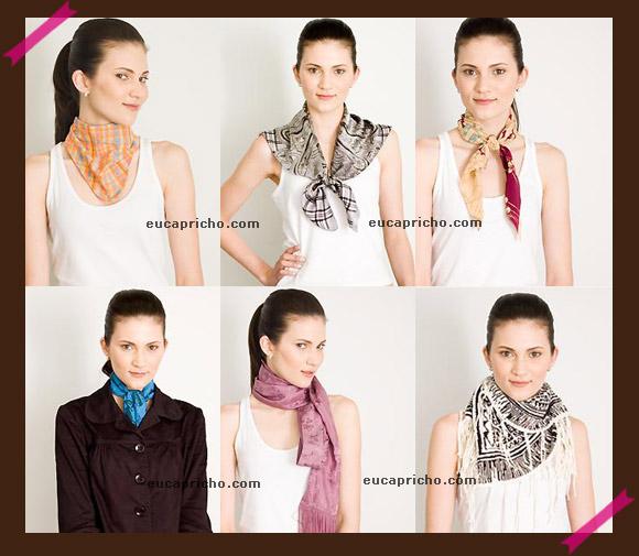 Ta na Moda - Lenços - Saiba como usar dicas de como amarrar e onde amarrar o lenço