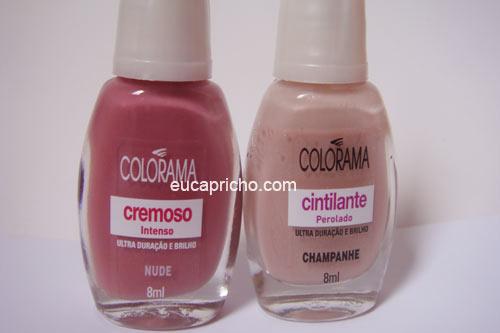 nudecolorama Esmaltes Nude e Champanhe   Colorama