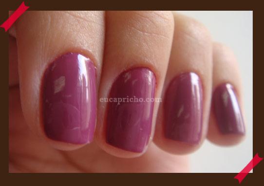 Esmalte da Semana passada Rita Impala cor roxa