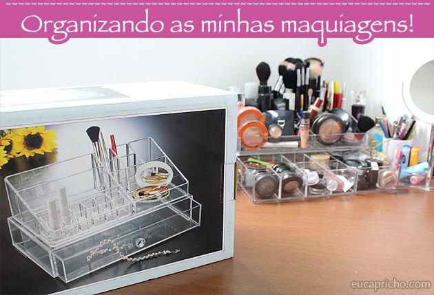 caixaacrilicomaquiagens1 Organizando as minhas maquiagens