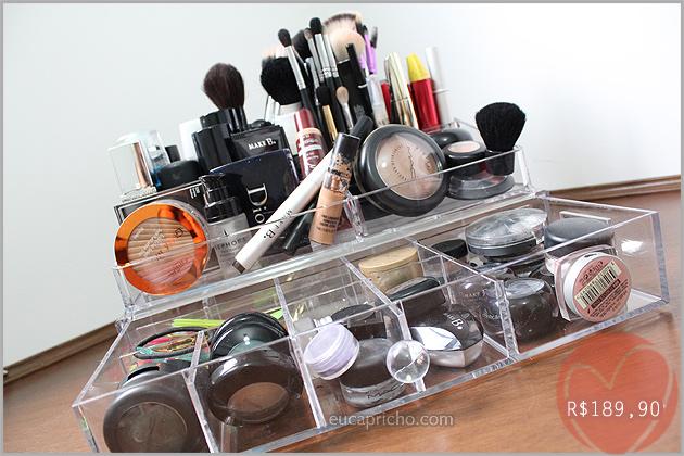 caixaacrilicomaquiagens2 Organizando as minhas maquiagens