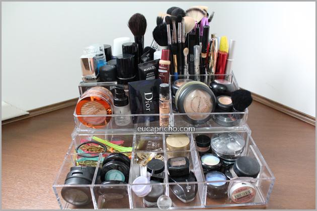 caixaacrilicomaquiagens3 Organizando as minhas maquiagens