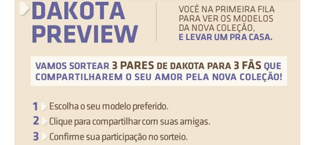dakota3 Preview Dakota + Sorteio!!