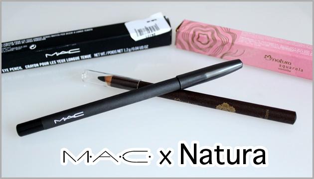 Lápis preto MAC x Natura resenha do lapis da mac e do lapis da natura veja a qualidade de cada um deles