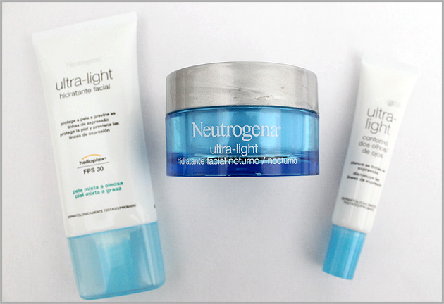 neutrogena Nova linha Ultra light   Neutrogena