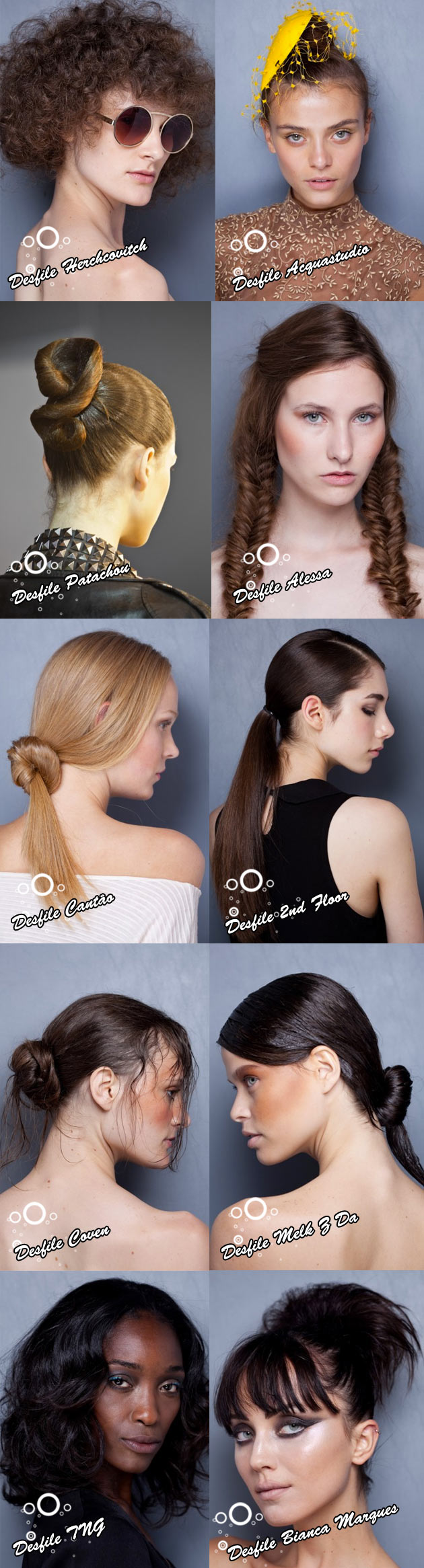 penteados1 #FashionRio   Cabelo
