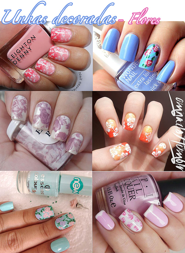 unhadecoradaflores Unhas decoradas   Flores